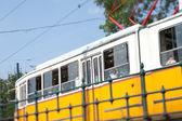 Orange tram — Stock Photo
