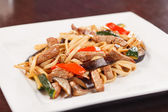 Noodle with beef and vegetables — Stock Photo