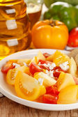 Fresh tomato salad — Stock Photo