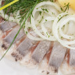 Marinated herring fillets — Stock Photo #11729230