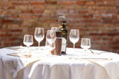 Wine on the table — Stock Photo