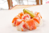 Sushi with grapefruit in rice paper — Stock Photo