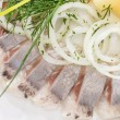 Marinated herring fillets — Stock Photo #11761847