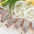 Marinated herring fillets — Stock Photo #11766004