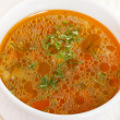Fresh vegetable soup — Stock Photo