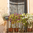 Stock Photo: Flowers balcony
