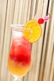 Cocktail with orange — Stock Photo