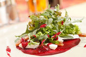 Salad with beet and arugula — Стоковое фото