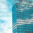 Modern office building and sky — Stock Photo