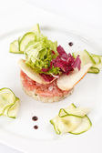Fish tartare — Stock Photo