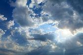 Sky with sun — Stock Photo