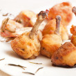 Fried chicken legs — Stock Photo