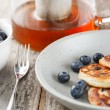 Blueberry pancakes — Stock Photo #12243511