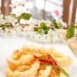 Stock Photo: Fried Calamari Rings