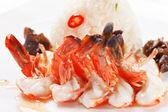 Karides ile - Japon yemeği pilav — Stok fotoğraf