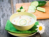 Chilled Cucumber Soup — Stock Photo