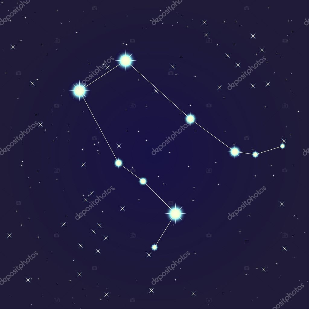 Constellation of  Gemini on night starry sky — Stock Vector #10803541