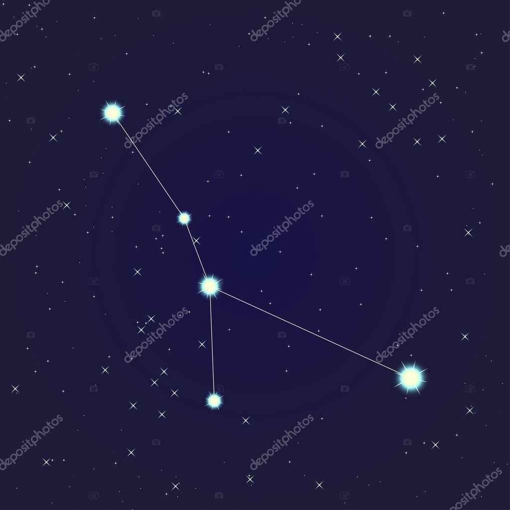 Constellation of  Cancer on night starry sky — Stock Vector #10929258