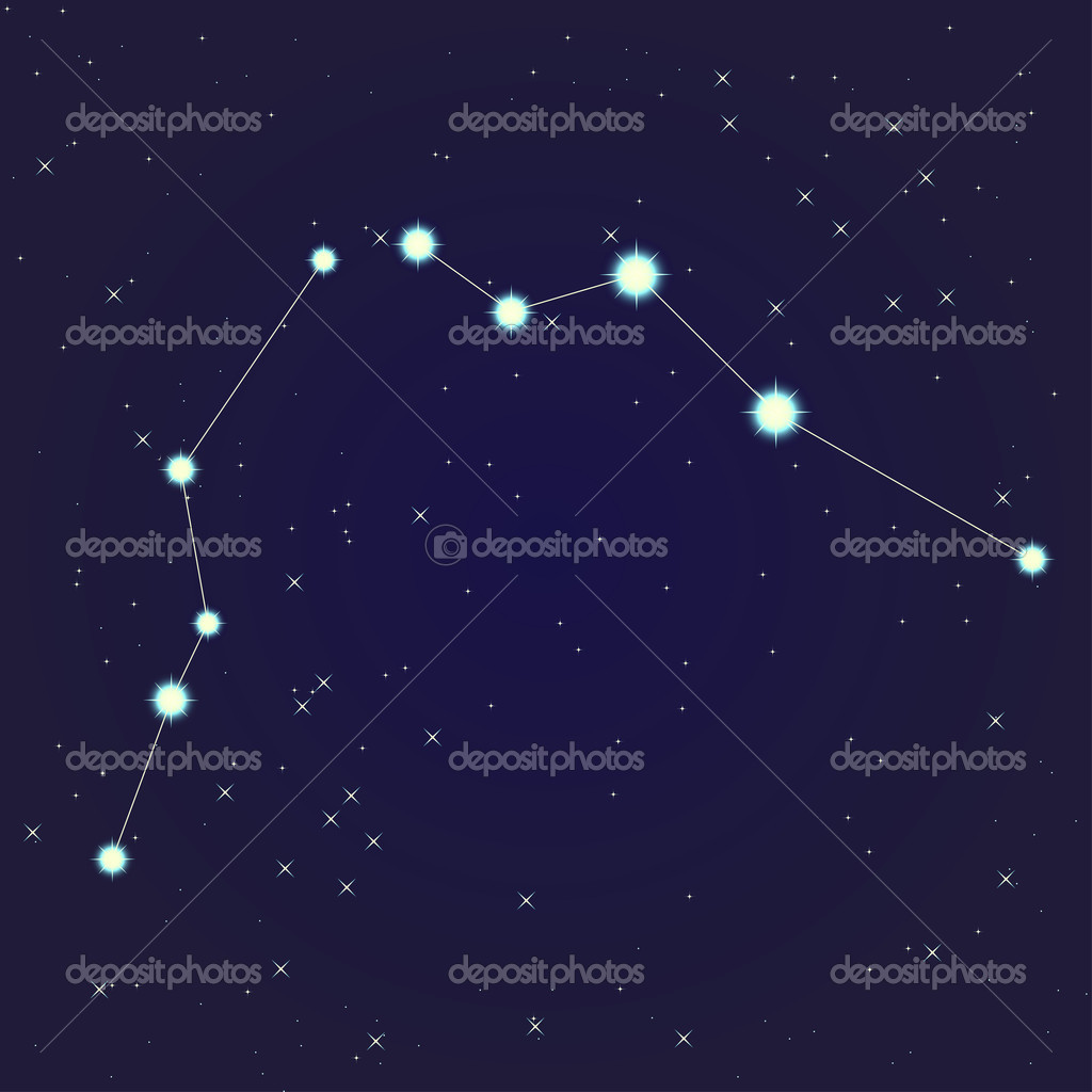 Constellation of Aquarius on night starry sky  Image vectorielle #10929259