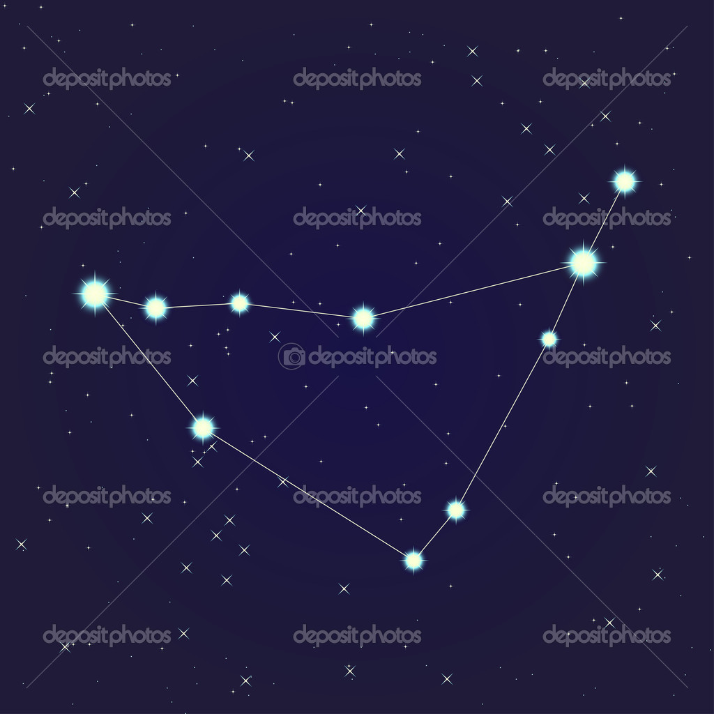 Constellation of Capricorn on night starry sky  Stockvektor #10929262