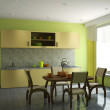 Kitchen with furniture — Stock Photo