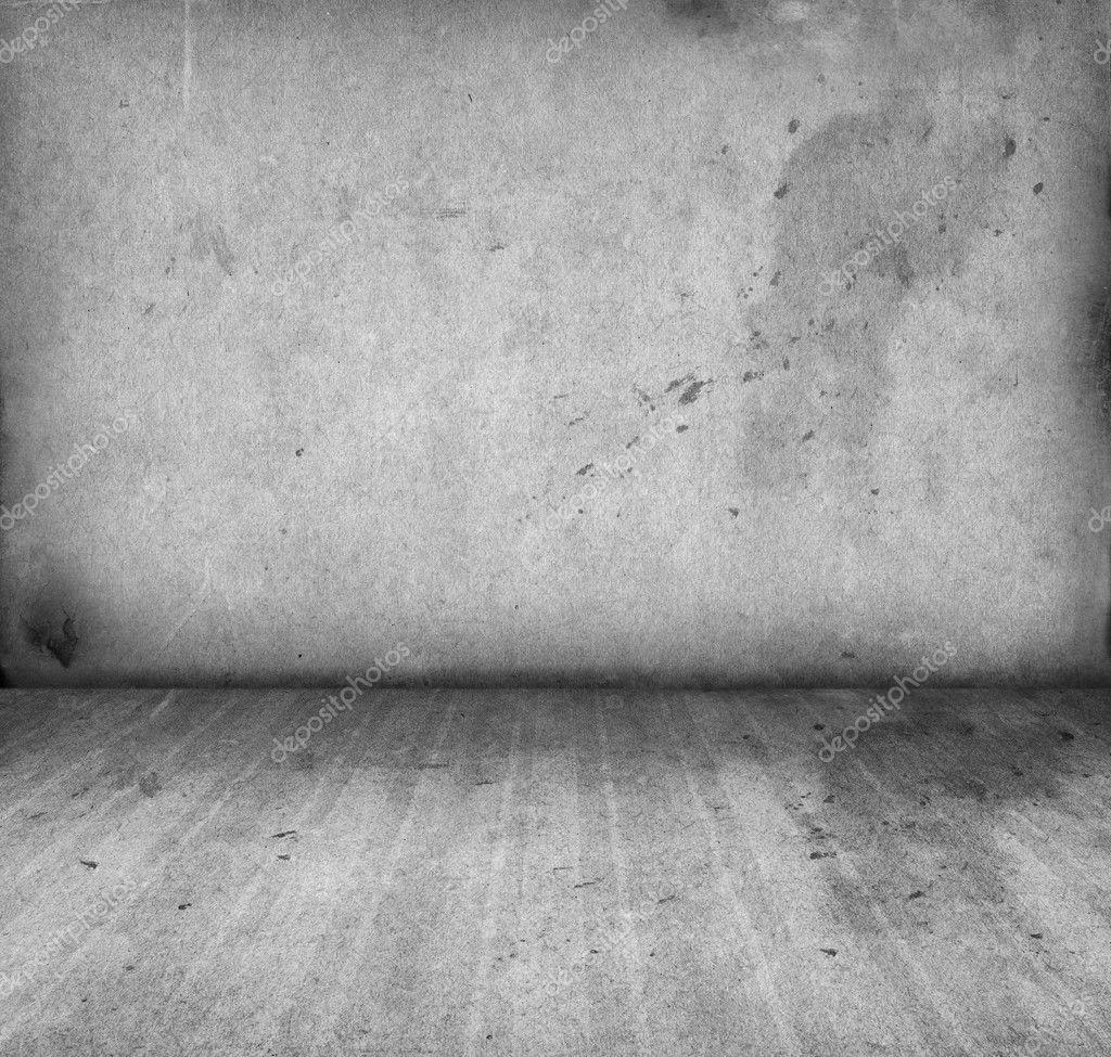 Leeg interieur van vintage kamer van grijze grunge stenen muur en ...