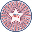 Royalty-Free Stock Imagen vectorial: Independence Day 4th of July design