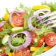Fresh salad bowl closeup — Stock Photo