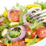 Fresh salad bowl closeup — Stock Photo #11409091