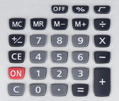 Buttons of calculator — Stock Photo