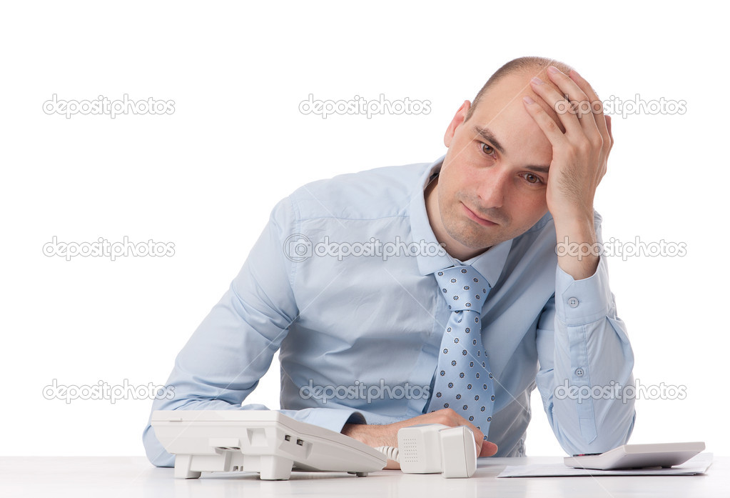 Business man with problems — Stock Photo #11907360