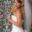 Bride portrait. Wedding dress — Stock Photo