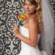 Stock Photo: Bride portrait. Wedding dress