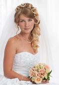 Bride portrait. Wedding dress — Stock Photo