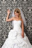 年轻漂亮的新娘。婚礼肖像 — 图库照片