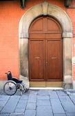 Wheelchair Near Entrance — Stock Photo