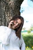 Beauty Talking On Phone — Stock Photo