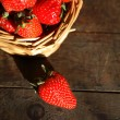 Strawberry On Wood — Stock Photo