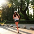 Sunrise Running - Stock Photo