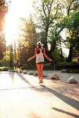 Zonsondergang fitness — Stockfoto