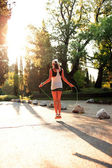 Tramonto fitness — Foto Stock