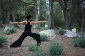 Yoga In Forest — 图库照片