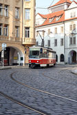 Street Railway In Prague — Stock Photo