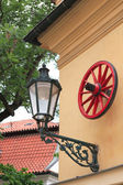 Lantern And Wheel — Stockfoto