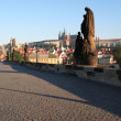 Charles Bridge At Dawn — Stock Photo