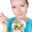 Royalty-Free Stock Photo: Portrait of woman eating vegetarian salad