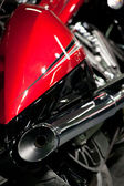 Motorcycle exhaust closeup — Stock Photo