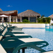 Caribbean resort with swimming pool — Stock Photo #11975534
