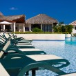 Caribbean resort with swimming pool — Stock Photo
