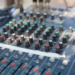 Professional sound mixer control desk — Stock Photo